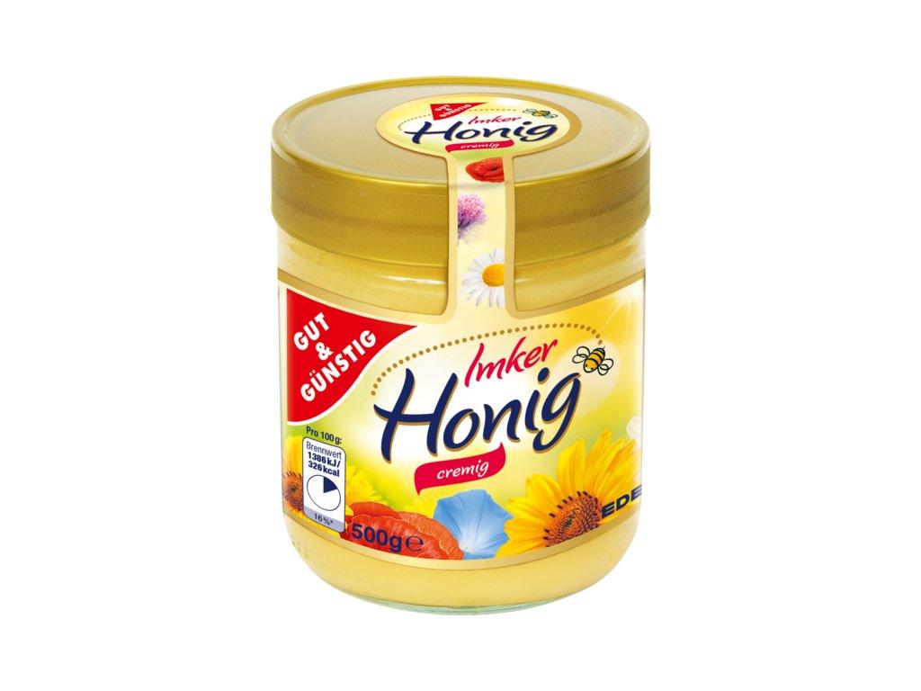 G&G včelí med, jemně krémový 500g  - originál z Německa