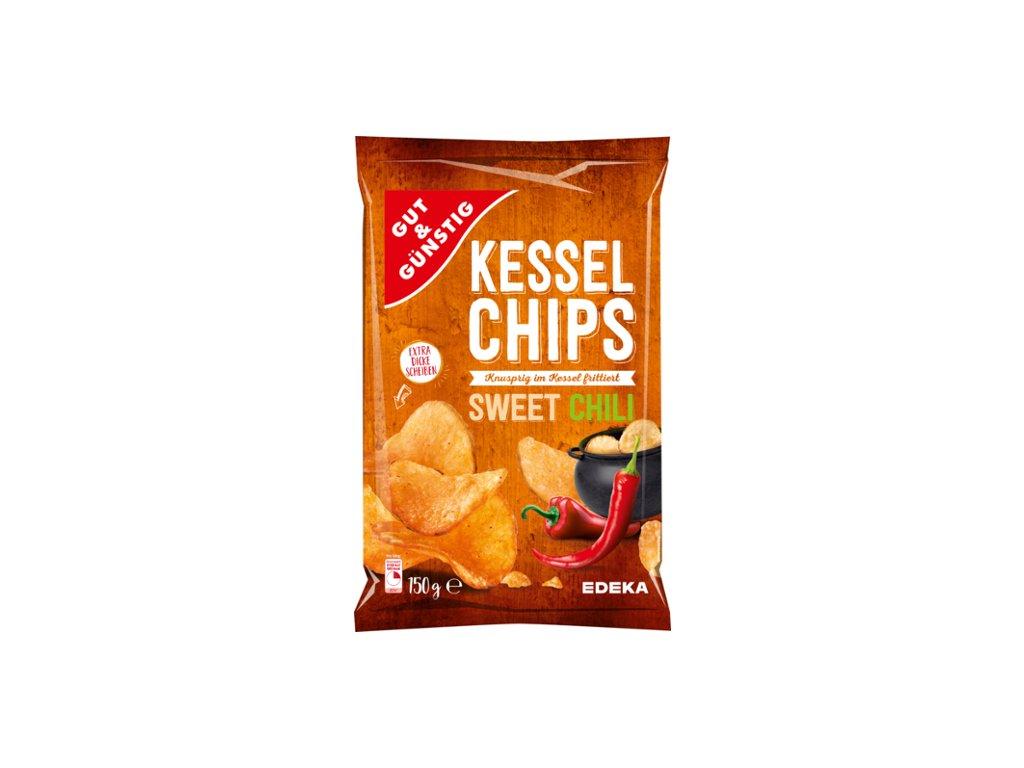 G&G Kotlíkové chipsy Sweet Chili 150g