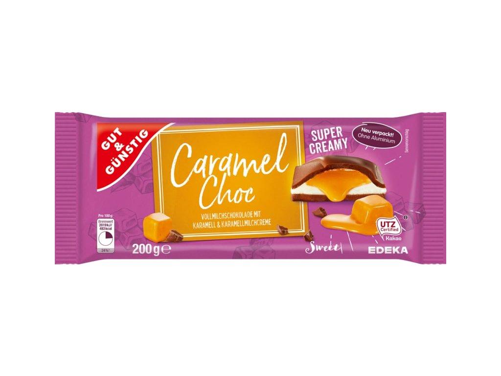G&G Caramel mléčná čokoláda s karamelovým a mléčným krémem 200g