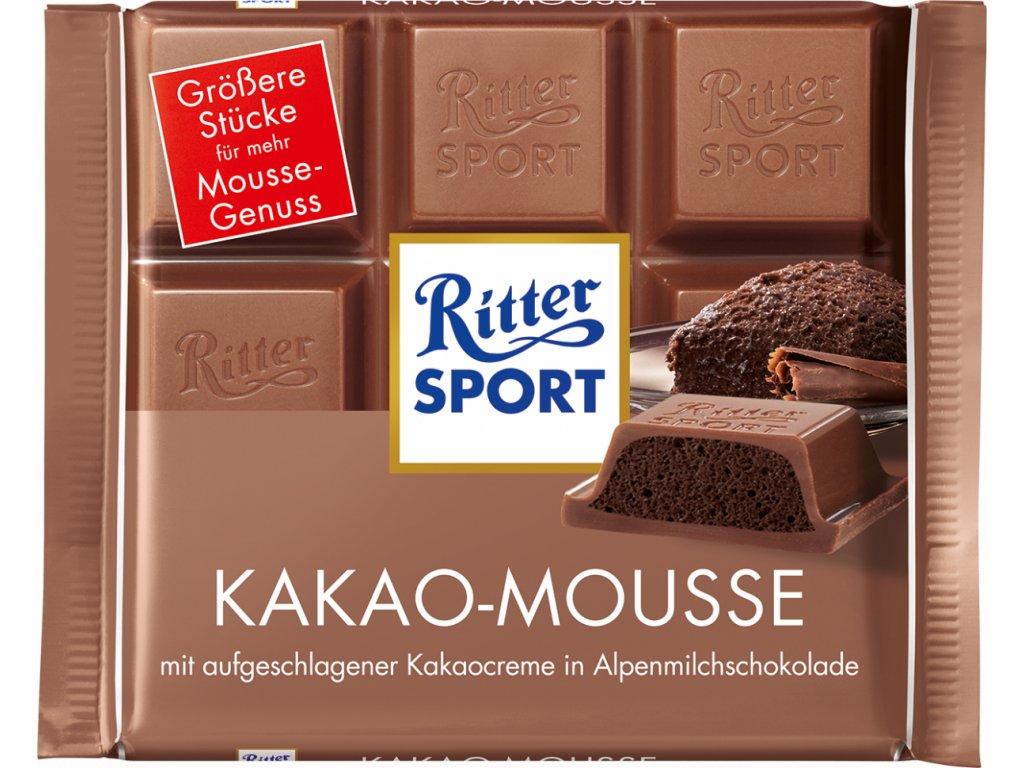 Ritter Sport Kakao-Mousse čokoláda 100g  - originál z Německa