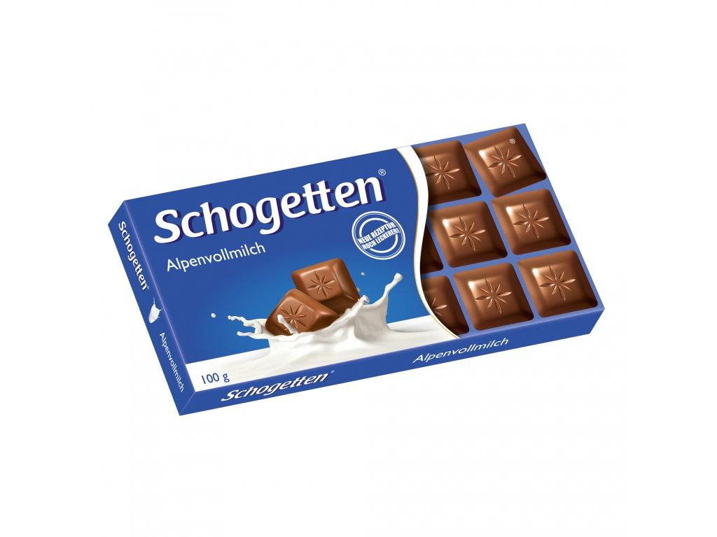 Schogetten Mléčná čokoláda 100g  - originál z Německa