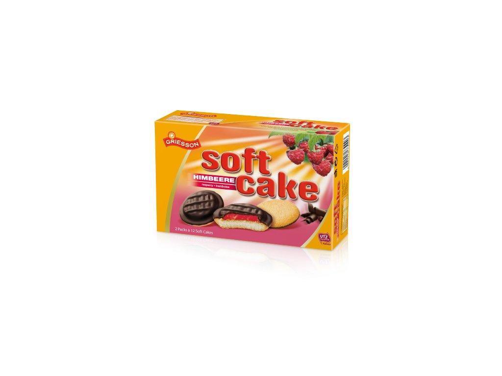 Soft Cake piškoty s čokoládovou polevou a malinovu náplní 300g  - originál z Německa