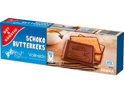 G&G Máslové sušenky máčené v mléčné čokoládě 125g  - originál z Německa