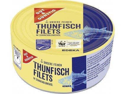 G&G Filety z tuňáka v slunečnicovém oleji 195g