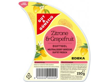 G&G vonný gel, citrón & grapefruit 150g