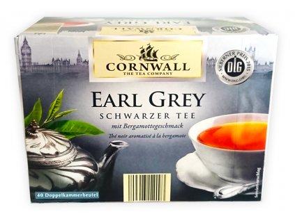 Cornwall černý čaj EARL GREY 40 sáčků, 70g  - originál z Německa