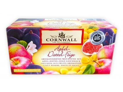 Cornwall aromatický ovocný čaj - jablko, datle, fíky, 55g  - originál z Německa