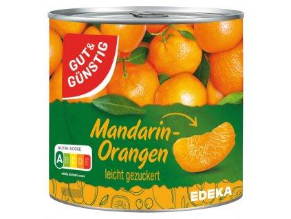 G&G Mandarinky - celé kousky, loupané 314ml  - originál z Německa