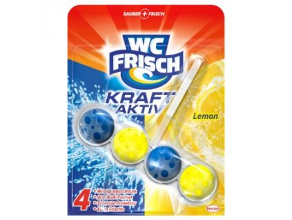 WC frisch Kraft Aktiv Lemon závěsný blok 50g  - originál z Německa