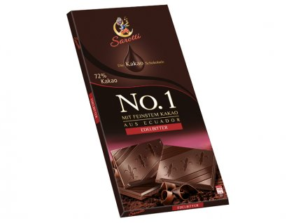 Sarotti No.1 hořká čokoláda 72% kakaa 100g  - originál z Německa
