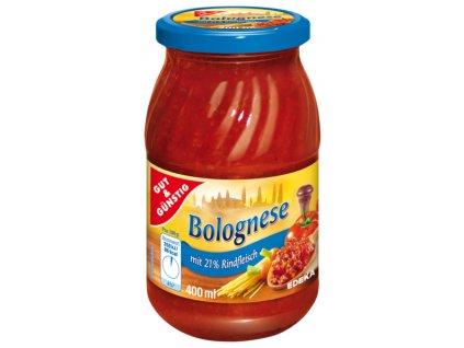G&G Boloňská omáčka na těstoviny s hovězím 400ml  - originál z Německa