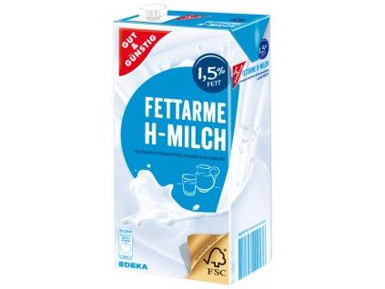 G&G Trvanlivé polotučné mléko 1,5% 1L  - originál z Německa