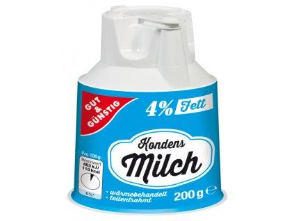 G&G Kondenzované mléko 4% tuku 200g  - originál z Německa
