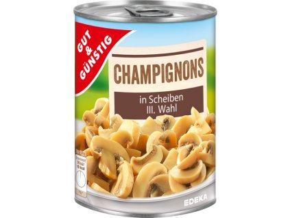 G&G Žampiony, plátky 314ml  - originál z Německa