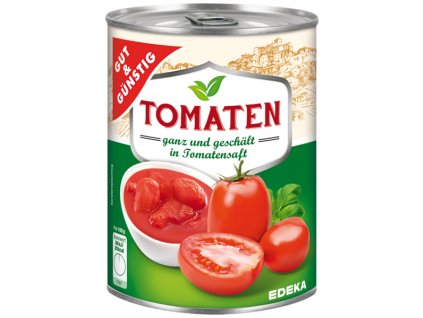 G&G Celá rajčata, loupaná 425ml  - originál z Německa