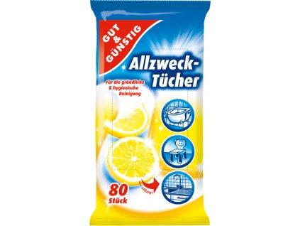 G&G Antibakteriální vlhčené ubrousky 80ks  - originál z Německa