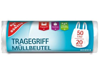 G&G Zatahovací pytle na odpadky s držadlem 20 x 50 L  - originál z Německa