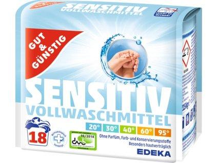 G&G Sensitiv prací prášek pro citlivou pokožku 1,215 kg