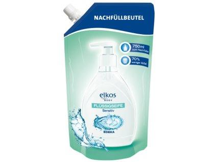 Elkos tekuté mýdlo náhradní náplň pro citlivou pokožku 750ml  - originál z Německa