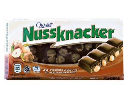 Choceur Nussknacker jemně hořká čokoláda s lískovými ořechy 100g