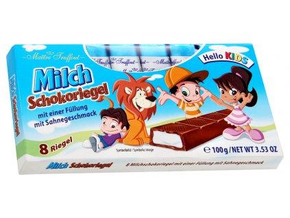 Truffout Mléčná čokoláda s mléčnou náplní 8 ks, 100g