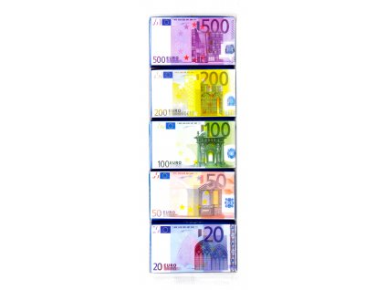 Truffout Mléčné čokoládky bankovky Euro 5 x 15g, 75g