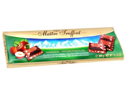 Maitre Truffout Premium mléčná čokoláda s lískovými ořechy 300g