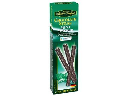 Truffout Čokoládové tyčinky, mátové 75g