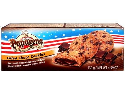 Papagena Premium Cookies s čokoládovou náplní 130 g