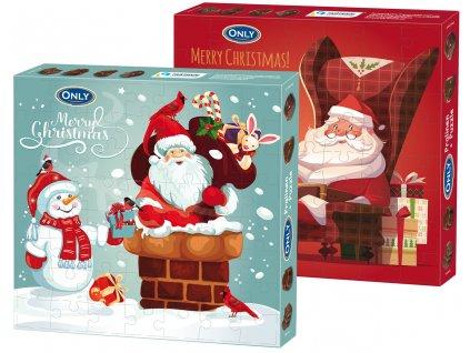 Only Vánoční čokoládové pralinky s mléčnou náplní puzzle 120g