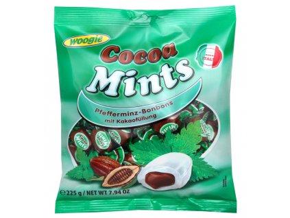 Woogie Peppermintové bonbóny s kakaovou náplní 225g
