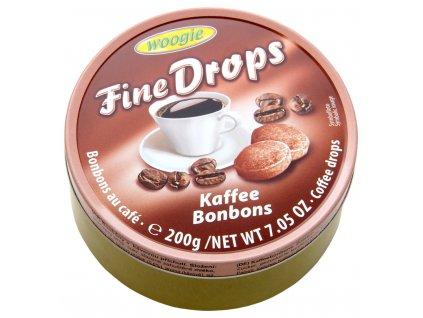 Woogie Fine Drops bonbóny v plechové dóze, káva 200g