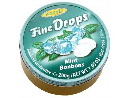 Woogie Fine Drops bonbóny v plechové dóze, máta 200g