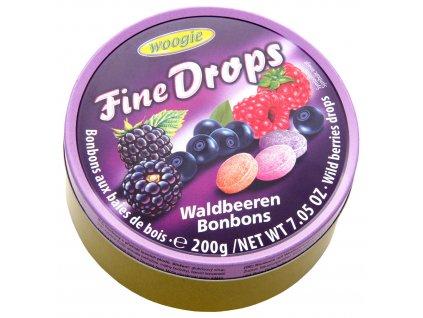 Woogie Fine Drops bonbóny v plechové dóze, lesní plody 200g