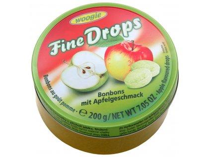 Woogie Fine Drops bonbóny v plechové dóze, jablko 200g