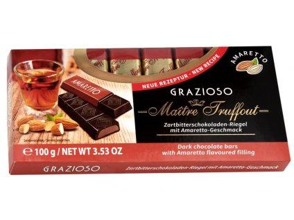 Truffout Grazioso Mléčná čokoláda s krémrm Amaretto 8 ks, 100g