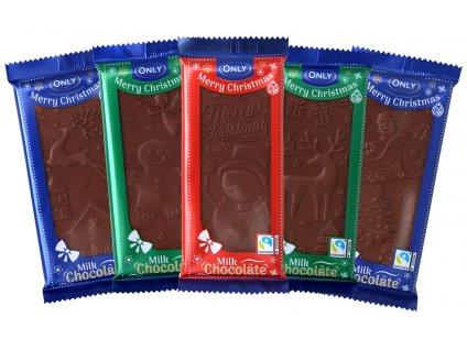 Only Vánoční tabulka čokolády 100g