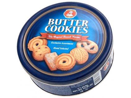 Máslové Cookies sušenky v plechové dóze 454g