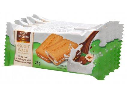 Biscuit Sendvičové sušenky s mléčnou a lískooříškovou náplní 5x28g