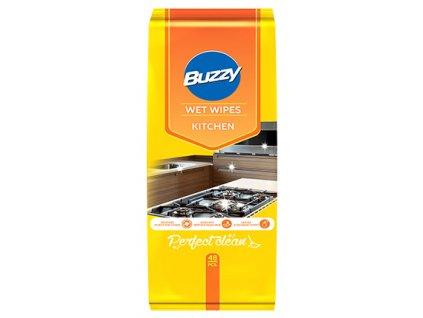 Buzzy Vlhčené ubrousky pro čištění kuchyně 48 ks