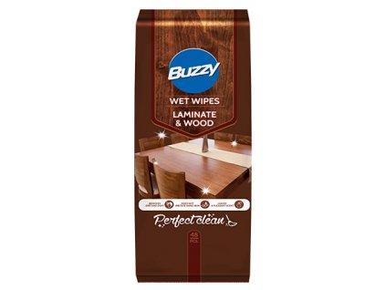 Buzzy Vlhčené ubrousky pro čištění dřeva a laminátu 48 ks