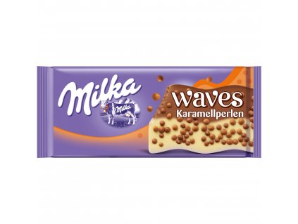 Milka Waves mléčná čokoláda s křupinkami 81g