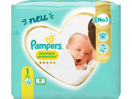 Pampers Premium protection 1 New Born, 2 5 kg, 23 ks