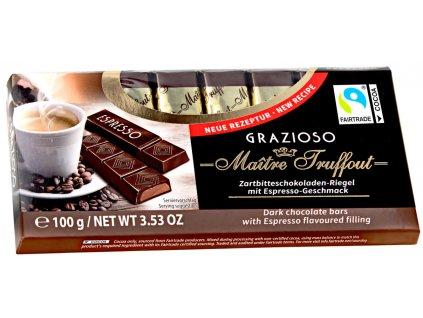 Truffout Grazioso Mléčná čokoláda s espressem 8 ks, 100g