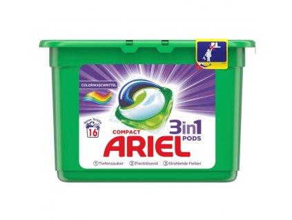 Ariel 3v1 Color gelové kapsle na barevné prádlo 16 ks