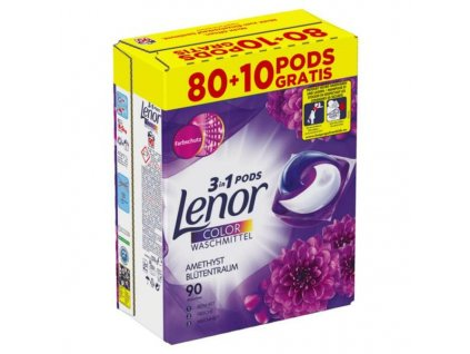 Lenor Amethyst Color 3v1 kapsle na praní 90 ks