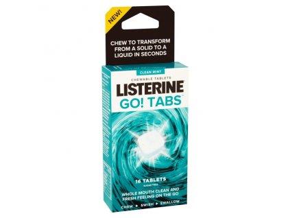 Listerine Go! Tabs žvýkací tablety osvěžující dech 16 ks