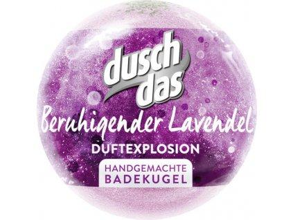 Duschdas šumivá bomba do koupele uklidňující levandule 100g