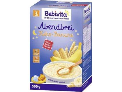 Bebivita Mléčná kaše na dobrou noc sušenky s banány 500g