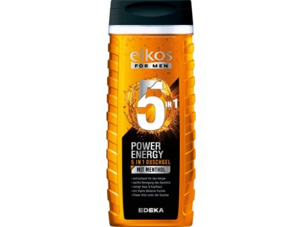 Elkos Men POWER ENERGY 5v1 sprchový gel s mentolem 300ml